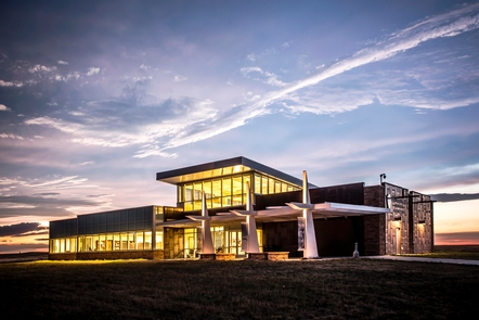 Minuteman Missile Visitor CenterThe visitor center at sunset.