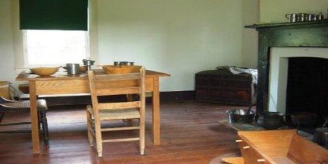 Inside Melrose Slave CabinThe furnished slave cabin at Melrose helps to illustrate  the daily life of the enslaved.