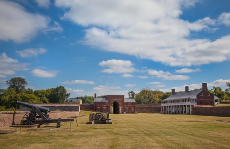 Fort Washington ParkFort Washington's parade ground facing the main entrance.