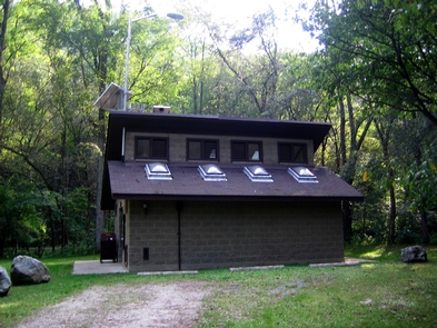 Glade Creek CampgroundRestrooms at Glade Creek campground