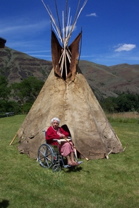 Buffalo Hide TipiThe only known remaining complete buffalo hide tipi belonging to a Nez Perce.