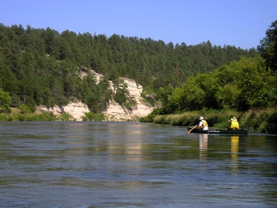 Canoeing the Niobrara NSRThe Niobrara is a peaceful place to paddle during the week.
