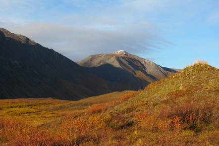 Golden HourThe famous golden hour near sunset on Copter Peak gives depth to the mountains and neon hues to the tundra.