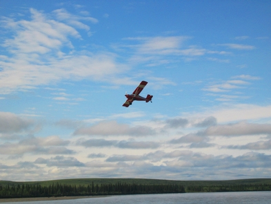 Scout Leaving Kelly BarA National Park Service plane takes off from the Kelly Bar landing site at the confluence of the Kelly River and Noatak River