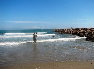 Fishing at Mansfield ChannelSurf fishing is a great way to enjoy the outdoors at Padre Island National Seashore.
