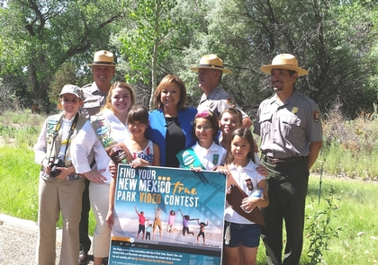 Every Kid in a ParkPecos NHP Superintendent with future park stewards in 2015.