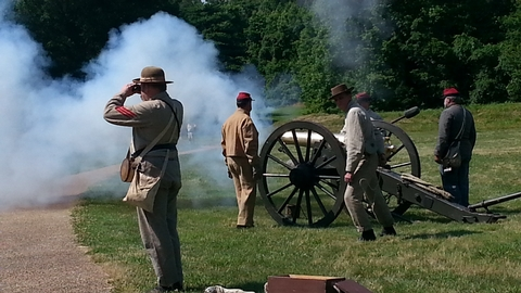 Artillery DemonstrationThousands of visitors learn the steps involved in firing off a Civil War cannon by members of the Pegram's Battery Reenactment Unit.