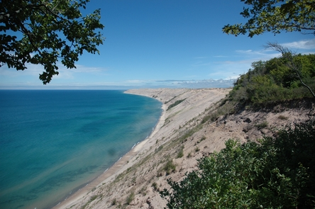 Grand Sable DunesThe Grand Sable Dunes rise up 300 feet from Lake Superior.