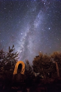 Milky Way over the ChuckwagonThe Milky Way glitters above the chuckwagon at Pipe Spring National Monument. The monument has great night sky clarity because it is located inside the first Dark Sky Nation: The Kaibab Indian Reservation.