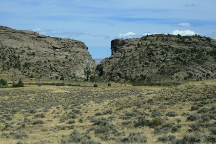 Devil's Gate, WyomingDevil's Gate was an important landmark on the trail in Wyoming.
