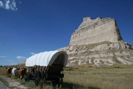 Scotts Bluff National Monument, NebraskaThe Pony Express traveled through Scotts Bluff National Monument in Nebraska.