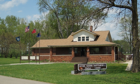 River Raisin National Battlefield Park Visitor CenterEntrance to the Park Visitor Center