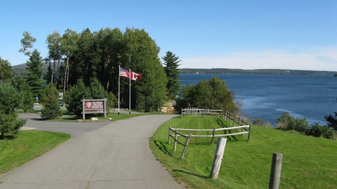 Saint Croix Island EntranceView of the drive into Saint Croix Island International Historic Site.