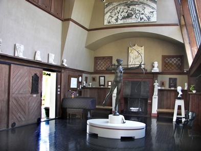 Interior of the Little StudioThe Little Studio where Augustus Saint-Gaudens worked, exhibits some his well known works.