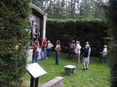 The Shaw MemorialVisitors looking at the bronze cast of the Shaw Memorial, Saint-Gaudens' masterpiece.