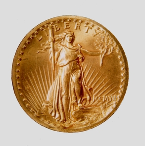 Twenty dollar gold coin, 1907The 20 dollar gold piece Saint-Gaudens designed, is considered the most beautiful American coin ever minted