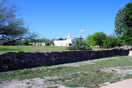 Mission San Juan, World Heritage SiteMission San Juan has a farm watered with an historic irrigation system.