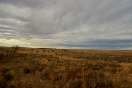 Winter clouds over Sand CreekWinter on the Southeastern Colorado Plains can produce beautiful scenes such as this.
