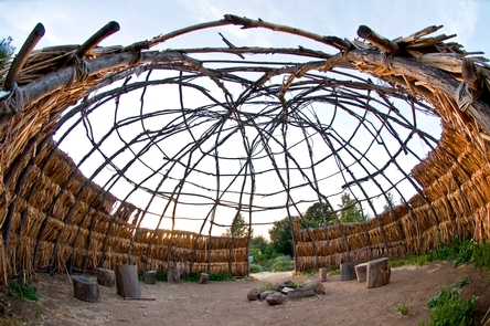 Chumash 'apVisit the Satwiwa Native American Indian Cultural Center to stand under a traditional Chumash 'ap and walk through a native plant garden.