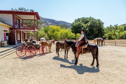 Filming in the Santa Monica MountainsGetting ready to start filming for Booneville Redemption at Paramount Ranch's Western Town!