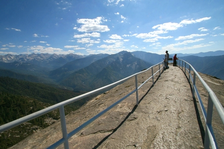Moro RockA historic stairway leads to the top of Moro Rock, offering views from foothills to peaks