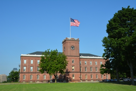 Springfield Armory National Historic SiteThe Main Arsenal at Springfield Armory National Historic Site was first built in 1850 and today houses the park's amazing collection of historic firearms.