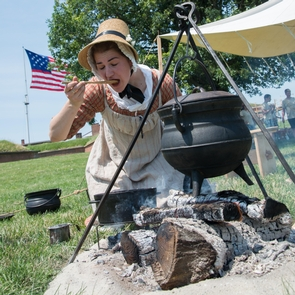 Star-Spangled Banner National Historic TrailCivilian cooking at Fort McHenry