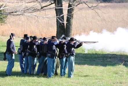 Union Infantry ProgramLiving history programs help visitors visualize the trials of soldiers during the Battle of Stones River.