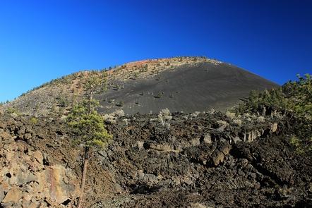 Sunset Crater and Bonito Lava FlowThree trails allow visitors to explore the Bonito Lava Flow.