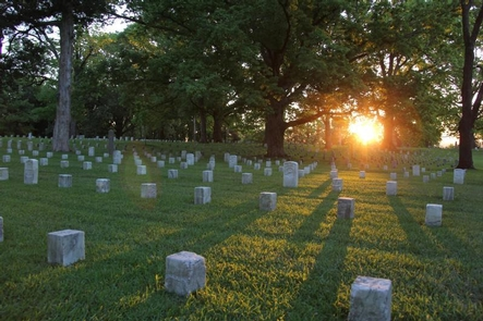 CemeterySunrise in the Shiloh National Cemetery