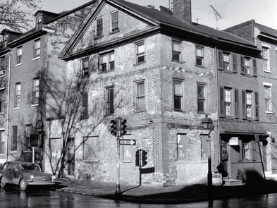 Kosciuszko House, ca. 1960The home where Thaddeus Kosciuszko once lived fell into disrepair.  The site became a National Memorial in 1972.