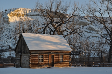 Maltese Cross CabinImagine waking up on a crisp winter morning in Roosevelt's Maltese Cross Cabin. It is no wonder that his heart was captured by the romance of life in the West.