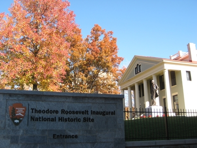 Theodore Roosevelt Inaugural SiteThis home in Buffalo, NY, is where Theodore Roosevelt took the oath of office as President on September 14, 1901.