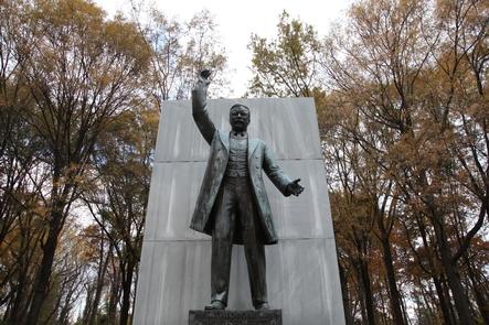 Staute of Theodore RooseveltTheodore Roosevelt memorial plaza on Theodore Roosevelt Island.