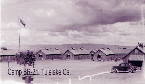 Camp Tulelake as a CCC Camp in 1936