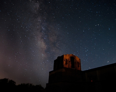 Milky Way over the Bell TowerSeveral times each year, the park opens late to invite visitors to experience dark night skies and the legacy of astronomy priest Padre Eusebio Francisco Kino.