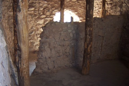 Inside TuzigootRebuilt in the 1930s, this room at Tuzigoot would not originally have had a roof. Today, you can climb through the room to experience the landscape that surrounds this enduring Pueblo.