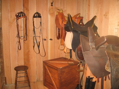 Tack RoomThe historic stable tack room.
