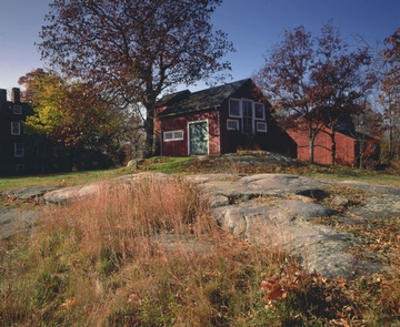 Weir Studio by Peter MargonelliThe color and light of the park amplifies during the fall season as reds and yellows surround the historic studios.