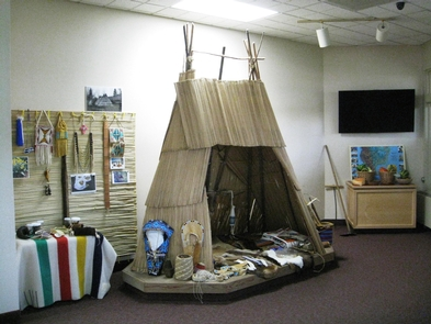 WHMI Tule LodgeVisitors have access to many cultural items in the tule lodge.
