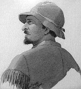 Marcus WhitmanPainting of Marcus Whitman from a sketch by Paul Kane 1847.