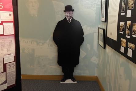 William Howard Taft cutoutA William Howard Taft cardboard cutout in the education center