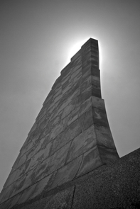 Wright Brothers MonumentBlack-and-white image of the Wright Brothers Monument