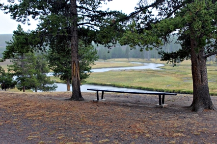 Bench overlooking Firehole River