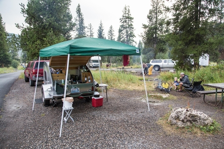 Pebble Creek CampgroundCampsites at the Pebble Creek Campground