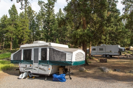 Tower Fall CampgroundRVs at the Tower Fall Campground
