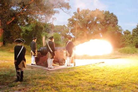 Lamb's Artillery Fire 18 pounder Cannon Yorktown BattlefieldWe have artillery firing programs twice a month throughout the summer at Yorktown Battlefield