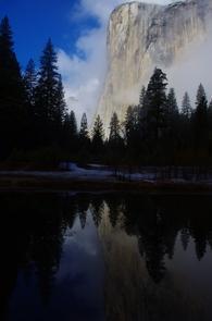 El CapitanEl Capitan rises over 3,000 feet above the floor of Yosemite Valley.