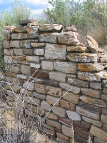 Ancestral Puebloan Wall at Yucca HouseView of an Ancestral Puebloan wall still standing at Yucca House.