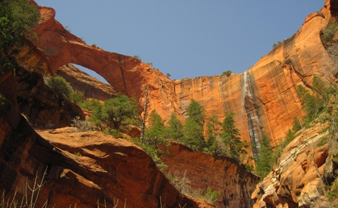 Kolob ArchDeep in Zion's Wilderness sits Kolob Arch, one of the largest free-standing arches in the world.
